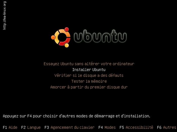 essayer ubuntu sans l installer Vous avez le choix entre essayer ubuntu et installer ubuntu  choisissez la   choix de la langue : passez à l'étape suivante sans rien modifier  ▷ allouer de.